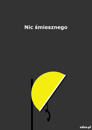 Nic śmiesznego, plakat minimalistyczny